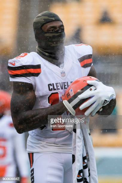 Cleveland Browns wide receiver Josh Gordon looks on during the game between the Cleveland Browns and the Pittsburgh Steelers on December 31 2017 at...