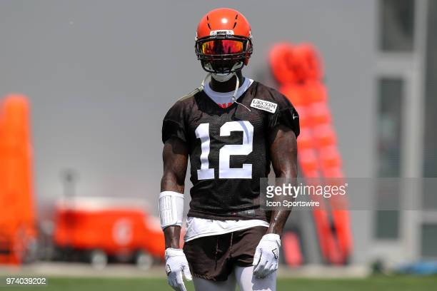 Cleveland Browns wide receiver Josh Gordon participates in drills during the Cleveland Browns Minicamp on June 13 at the Cleveland Browns Training...