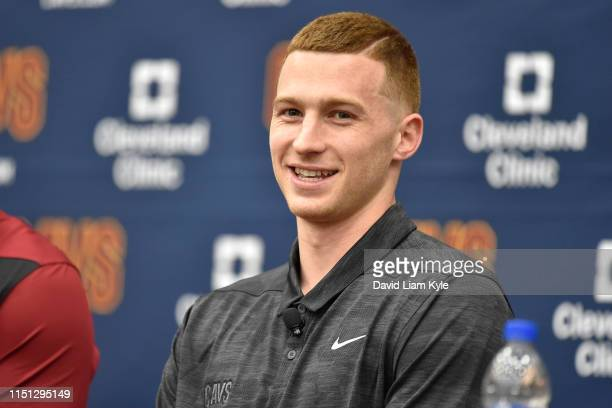 Cleveland Cavaliers Draftee Dylan Windler speaks with the media during a press conference on June 21 2019 at Cleveland Clinic Courts in Independence...