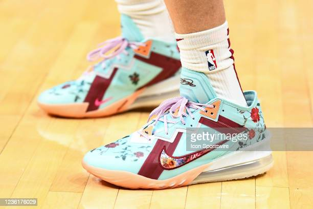 Cleveland Cavaliers Forward Lauri Markkanen sneakers before a NBA game between the Cleveland Cavaliers and the Los Angeles Clippers on October 27 at...