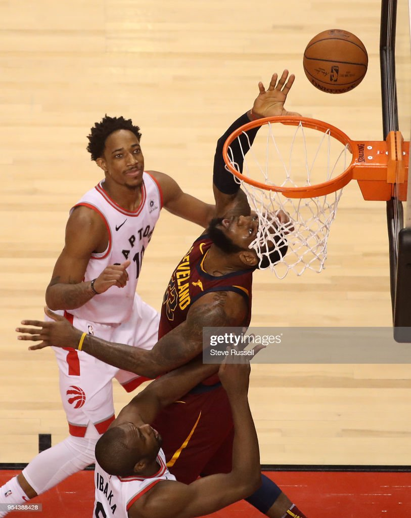 Toronto Raptors lose game two 128-110 to the Cleveland Cavaliers in the second round of the NBA playoffs : News Photo