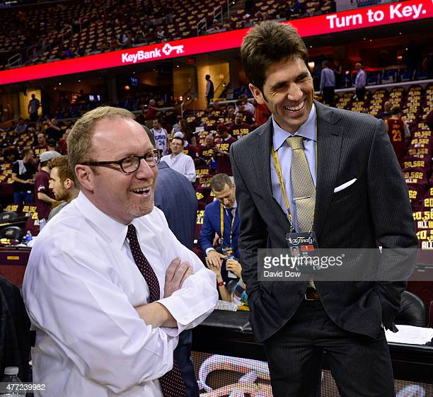 Cleveland Cavaliers General Manager David Griffin and Golden State Warriors General Manager Bobby Meyers prior to Game Four of the 2015 NBA Finals on...