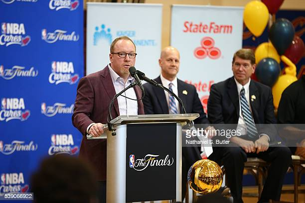 Cleveland Cavaliers General Manager David Griffin attends the 2016 NBA Finals Cares Legacy project as part of the 2016 NBA Finals on June 9 2016 at...