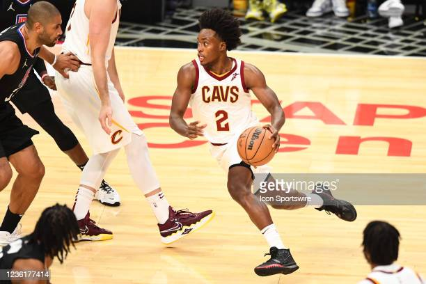 Cleveland Cavaliers Guard Collin Sexton drives to the basket during a NBA game between the Cleveland Cavaliers and the Los Angeles Clippers on...