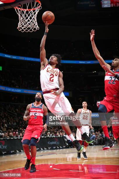 Cleveland Cavaliers guard Collin Sexton drives to the basket during the game against the Washington Wizards on November 14 2018 at Capital One Arena...
