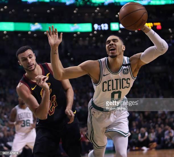 Cleveland Cavaliers Larry Nance Jr and Boston Celtics Jayson Tatum battle in the first half The Boston Celtics hosted the Cleveland Cavaliers for...