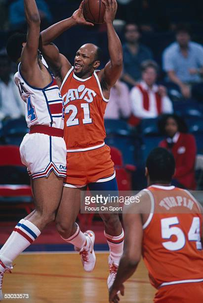 Cleveland Cavaliers' Lloyd Free jumps and shoots during a game against the Washington Bullets at Capital Centre circa 1986 in Washington, D.C.. NOTE...