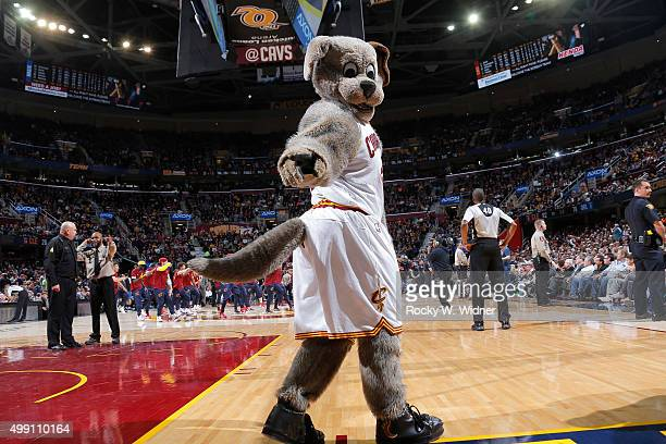 Cleveland Cavaliers mascot Moondog excites the crowd against the Orlando Magic on November 23 2015 at Quicken Loans Arena in Cleveland Ohio NOTE TO...