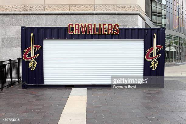 Cleveland Cavaliers souvenir stand at Quicken Loans Arena home of the Cleveland Cavaliers basketball team Cleveland Gladiators arena football team...