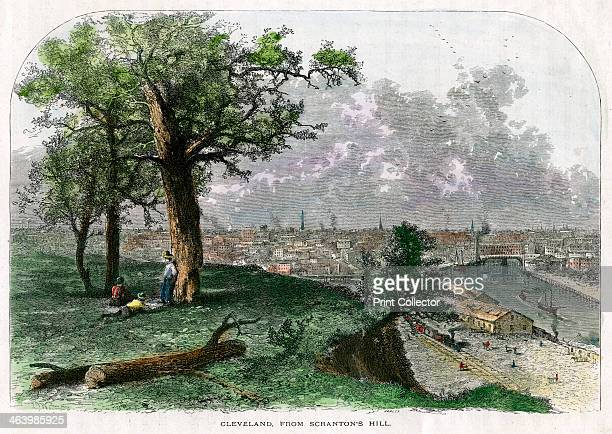 Cleveland from Scranton's Hill Ohio USA 19th century