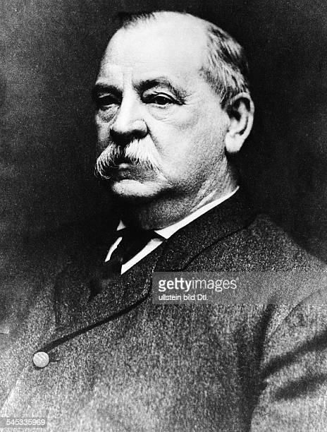 Cleveland Grover *1803183722 und 24 Praesident der USA 18851889 und 18931897 Portrait undatiert