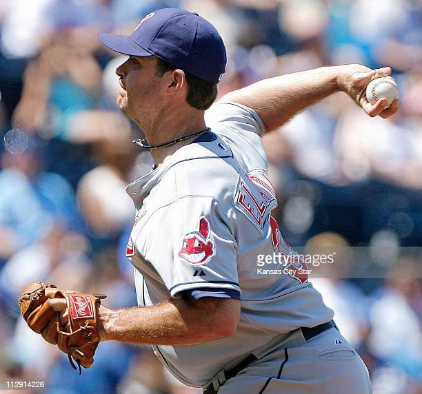 Cleveland Indian pitcher Scott Elarton works against the Kansas City Royals in the seventh inning The Royals defeated the Indians 61 at Kauffman...
