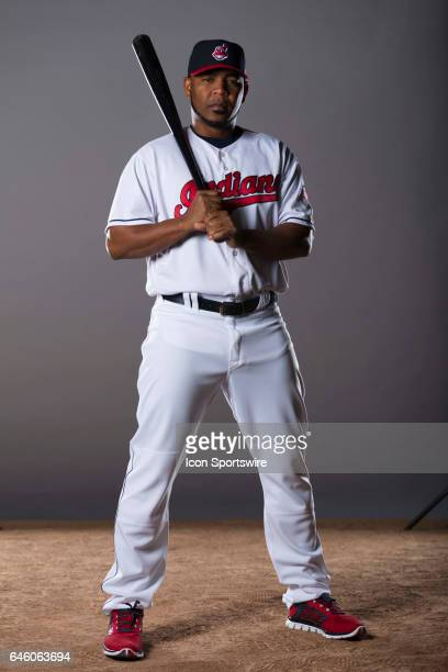 Cleveland Indians DH Edwin Encarnacion during the Cleveland Indians photo day on Feb 24 2017 at Goodyear Ballpark in Goodyear Ariz