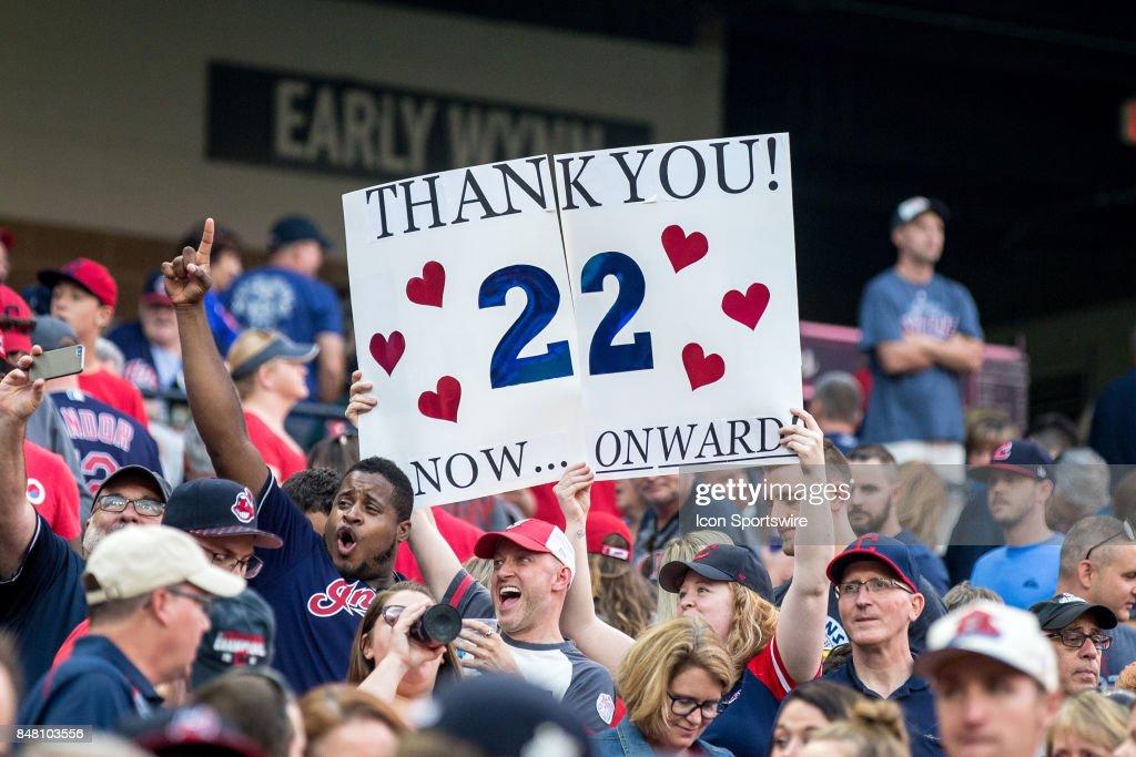 MLB: SEP 16 Royals at Indians : News Photo