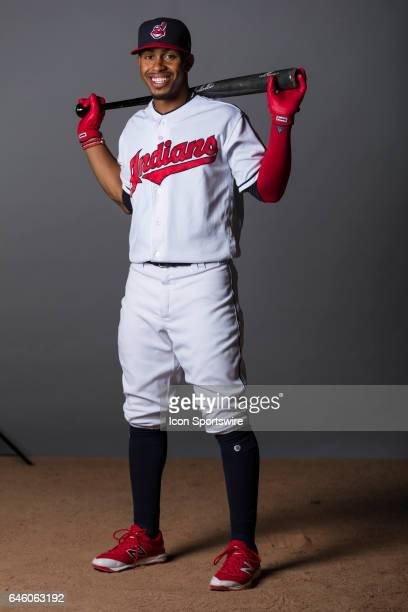 Cleveland Indians infielder Francisco Lindor during the Cleveland Indians photo day on Feb 24 2017 at Goodyear Ballpark in Goodyear Ariz