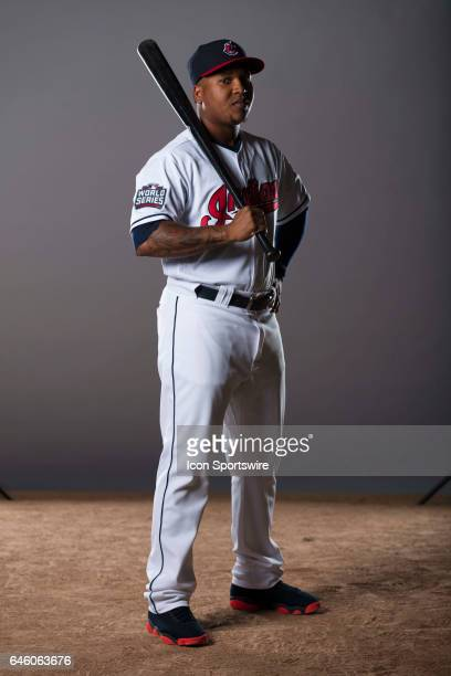 Cleveland Indians infielder Jose Ramirez during the Cleveland Indians photo day on Feb 24 2017 at Goodyear Ballpark in Goodyear Ariz