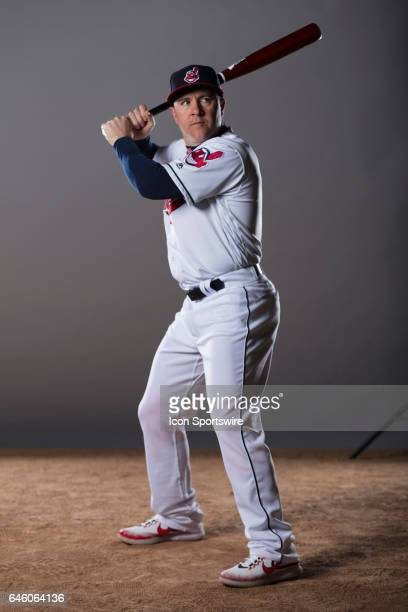 Cleveland Indians outfielder Daniel Robertson during the Cleveland Indians photo day on Feb 24 2017 at Goodyear Ballpark in Goodyear Ariz