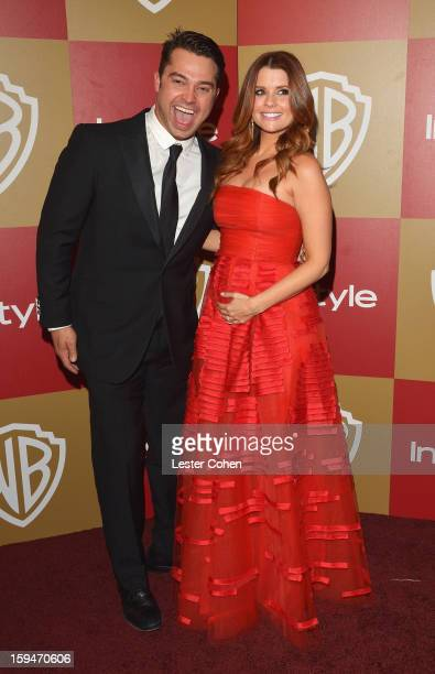 Cleveland Indians outfielder Nick Swisher and wife actress JoAnna Garcia attend the 2013 InStyle and Warner Bros 70th Annual Golden Globe Awards...