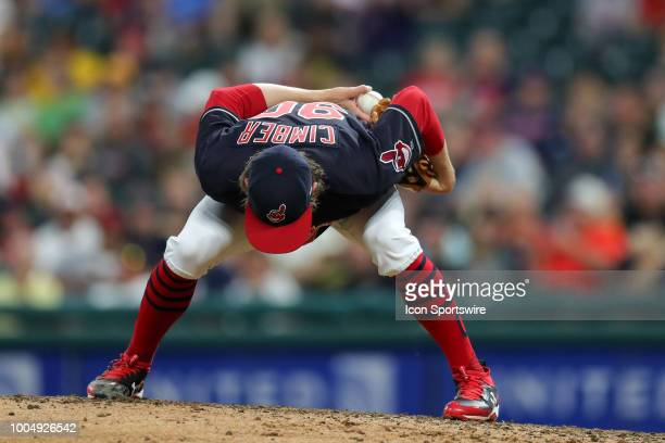 Cleveland Indians pitcher Adam Cimber on the mound during the eighth inning of the Major League Baseball Interleague game between the Pittsburgh...