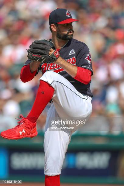 Cleveland Indians pitcher Adam Plutko delivers a pitch to the plate during the first inning of the Major League Baseball game between the Baltimore...