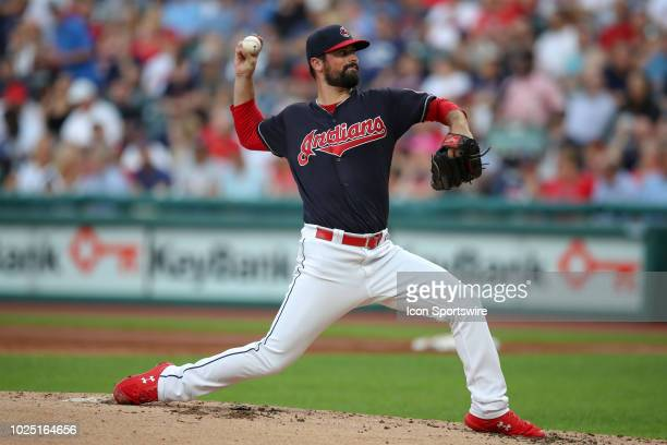 Cleveland Indians pitcher Adam Plutko delivers a pitch to the plate during the second inning of the Major League Baseball game between the Minnesota...