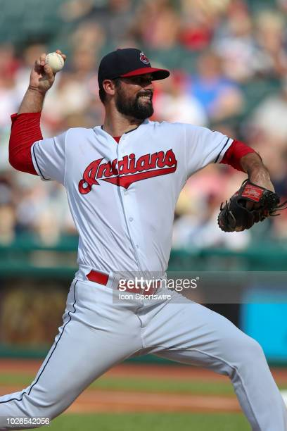Cleveland Indians pitcher Adam Plutko delivers a pitch to the plate during the first inning of the Major League Baseball game between the Kansas City...