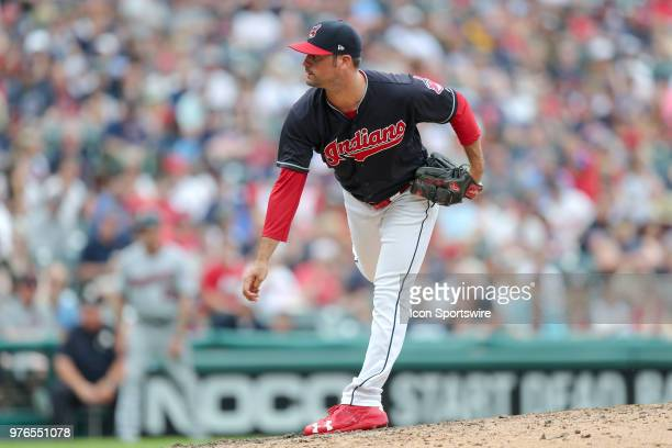 Cleveland Indians pitcher Adam Plutko delivers a pitch to the plate during the seventh inning of the Major League Baseball game between the Minnesota...