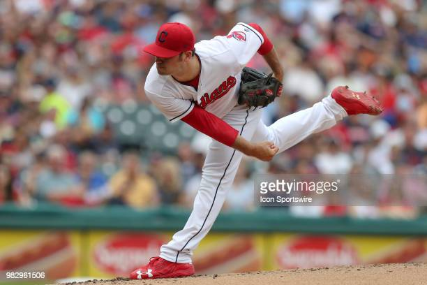 Cleveland Indians pitcher Adam Plutko delivers a pitch to the plate during the second inning of the Major League Baseball game between the Detroit...