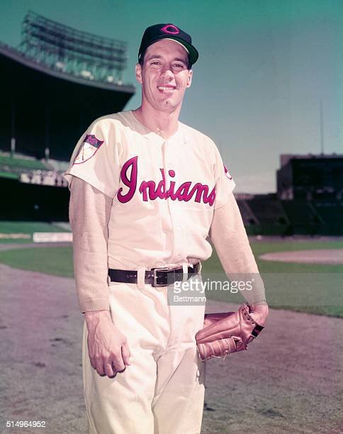 Cleveland Indians pitcher Bob Feller smiles in photo