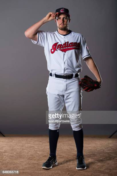 Cleveland Indians pitcher Trevor Bauer during the Cleveland Indians photo day on Feb 24 2017 at Goodyear Ballpark in Goodyear Ariz