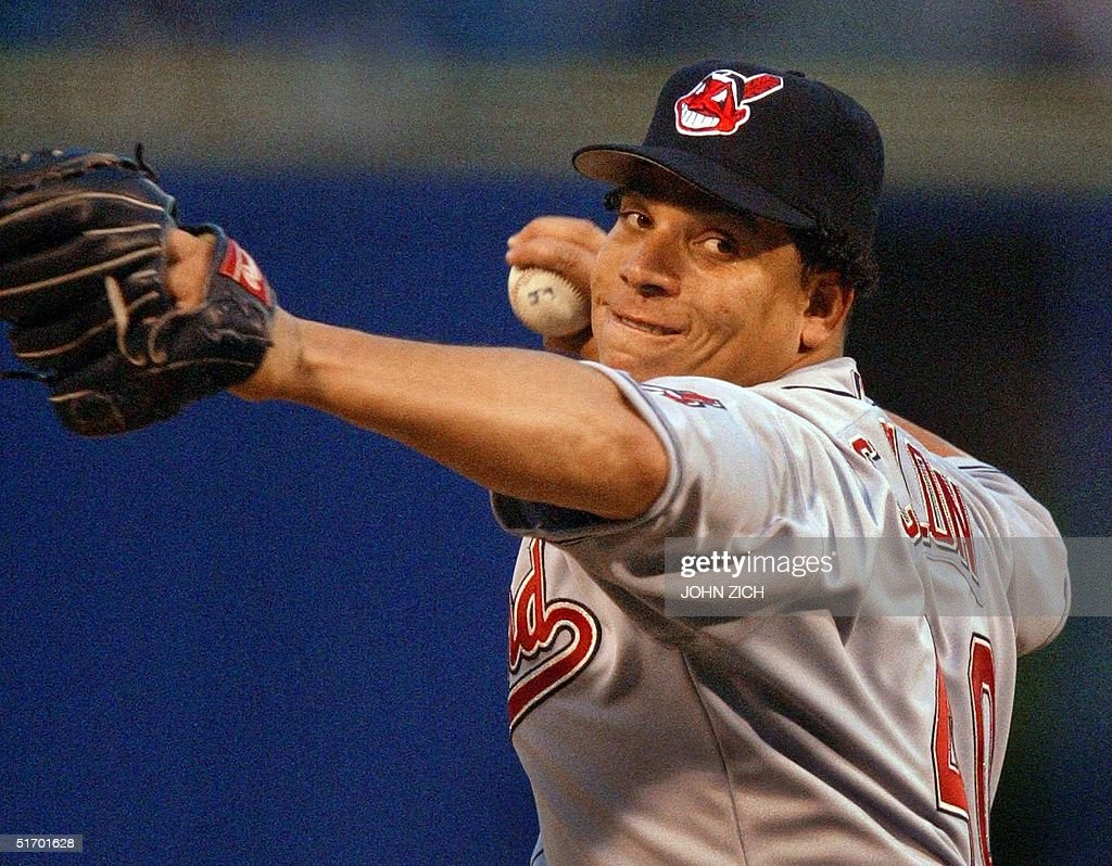 Cleveland Indians' starter Bartolo Colon pitches a : News Photo
