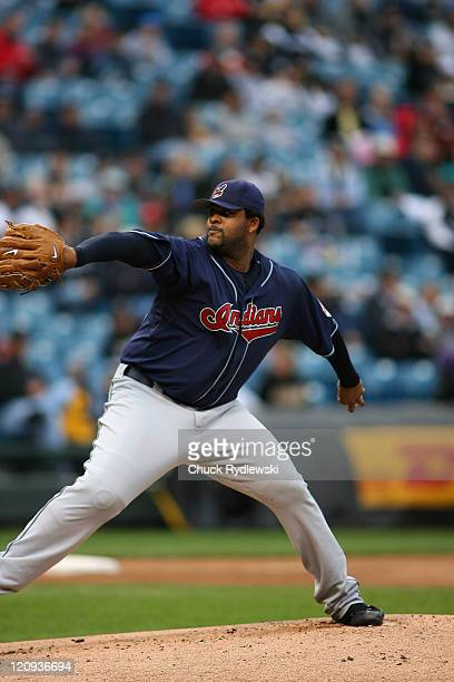 Cleveland Indians' Starter, C.C. Sabathia, pitches during their game against the Chicago White Sox September 10, 2006 at U.S. Cellular Field in...