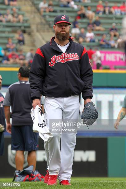 Cleveland Indians starting pitcher Corey Kluber walks in from the bullpen prior to the Major League Baseball game between the Chicago White Sox and...