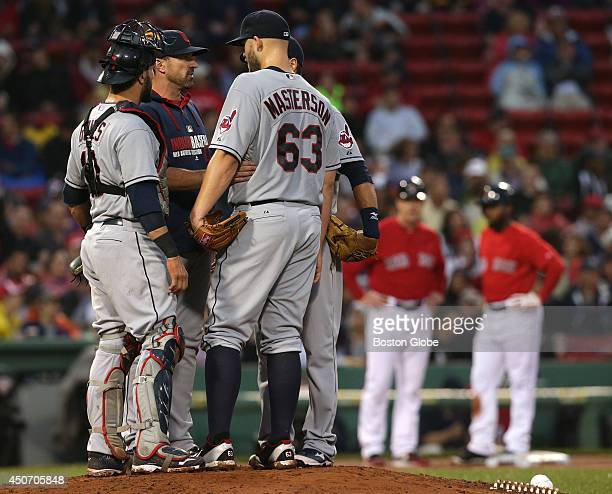 Cleveland Indians starting pitcher Justin Masterson wasn't as sharp as he was in his last start against the Sox in Cleveland During the Indians'...