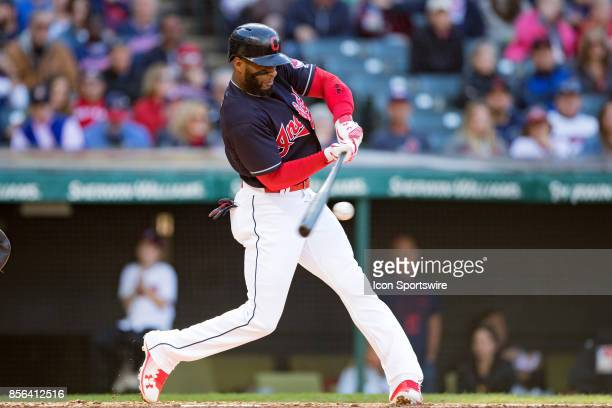Cleveland Indians third baseman Yandy Diaz at bat during the fourth inning of the Major League Baseball game between the Chicago White Sox and...