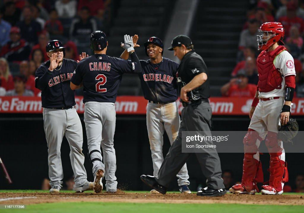 MLB: SEP 09 Indians at Angels : News Photo