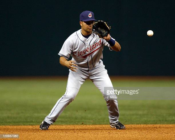 Cleveland infielder Jhonny Peralta makes the play during Friday night's game against Tampa Bay at Tropicana Field in St Petersburg Florida on April...