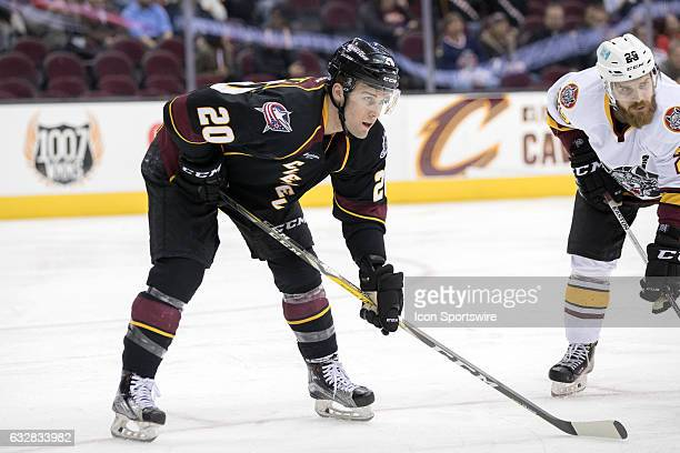 Cleveland Monsters C Justin Scott during the second period of the AHL hockey game between the Chicago Wolves and and Cleveland Monsters on January 26...