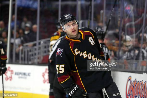 Cleveland Monsters center Mark Letestu on the ice during the first period of the American Hockey League game between the Milwaukee Admirals and...