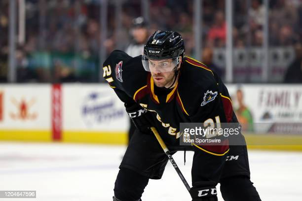 Cleveland Monsters center Sam Vigneault on the ice during the second period of the American Hockey League game between the Belleville Senators and...