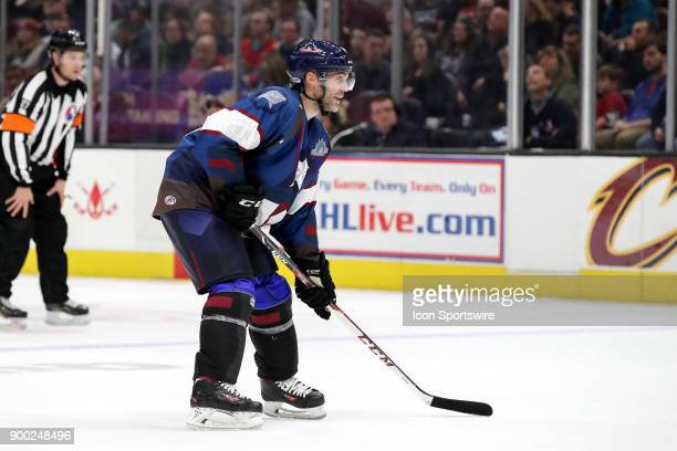 Cleveland Monsters defenceman Andre Benoit on the ice during the second period of the American Hockey League game between the Grand Rapids Griffins...