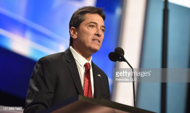 Scott Baio speaks at the Republican National Convention at Quicken Loans Arena in Cleveland, Ohio, on July 18, 2016.