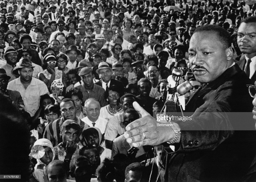 Reverend Martin Luther King Addressed A Cheering Crowd Of 2 000 Who