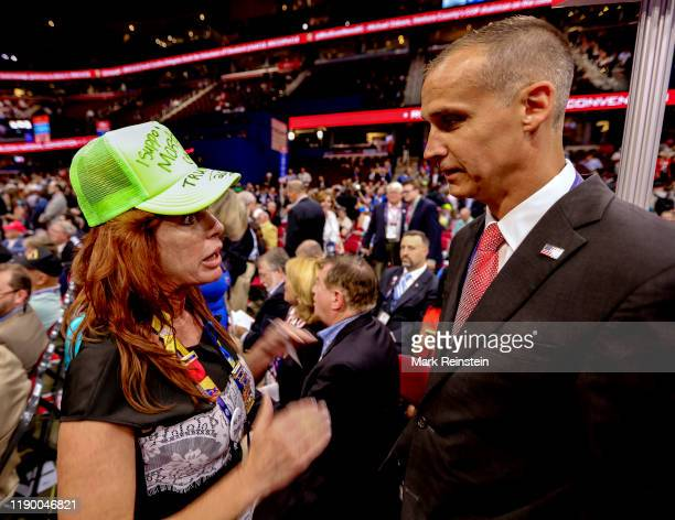 Cleveland Ohio USA July 18 2016 Corey Lewandowski Donald Trump's former campaign manager talks with delegates at the Republican National Nominating...