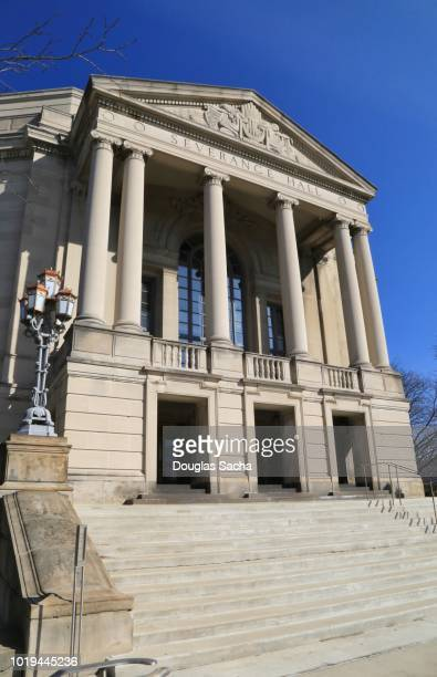 cleveland orchestra's symphony hall, severance hall, cleveland, ohio, usa - cleveland ohio stock photos and pictures