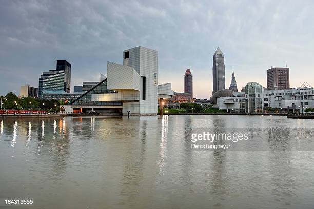 cleveland - rock and roll hall of fame cleveland stock pictures, royalty-free photos & images