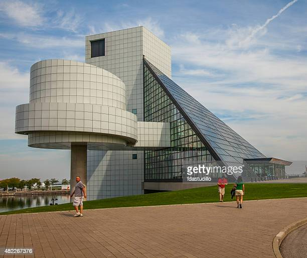 cleveland - rock and roll hall of fame - rock and roll hall of fame cleveland stock photos and pictures