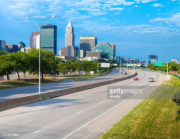Cleveland Skyline over Interstate 90