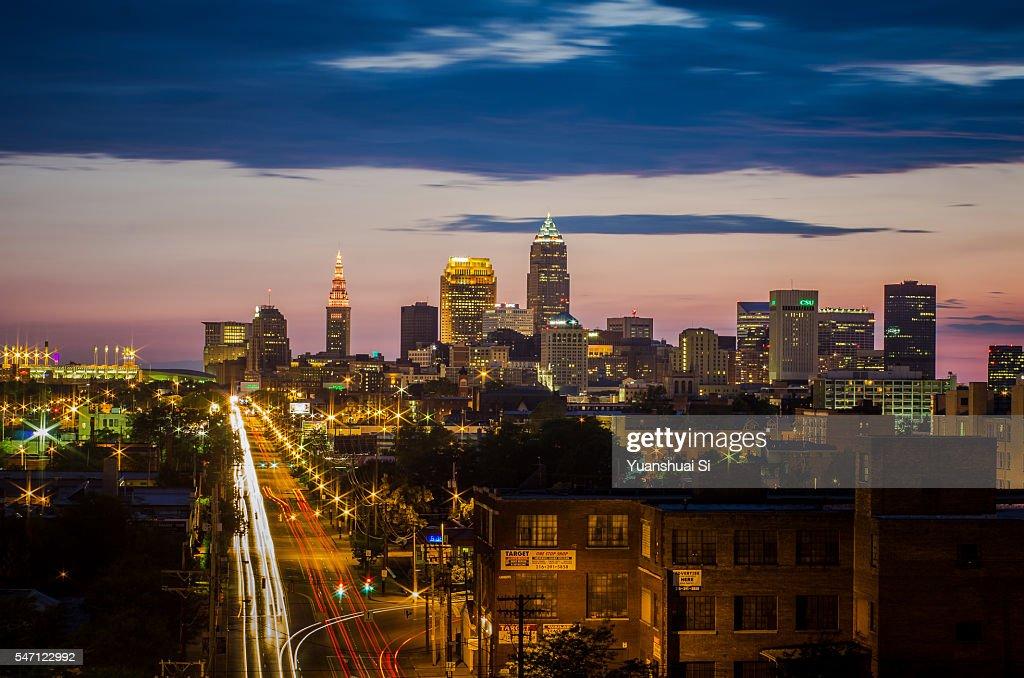 Cleveland Skyline : Stock-Foto