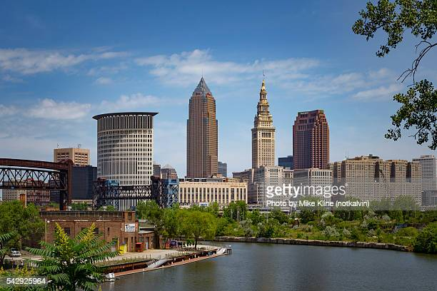 cleveland - southern view - cleveland ohio stock photos and pictures